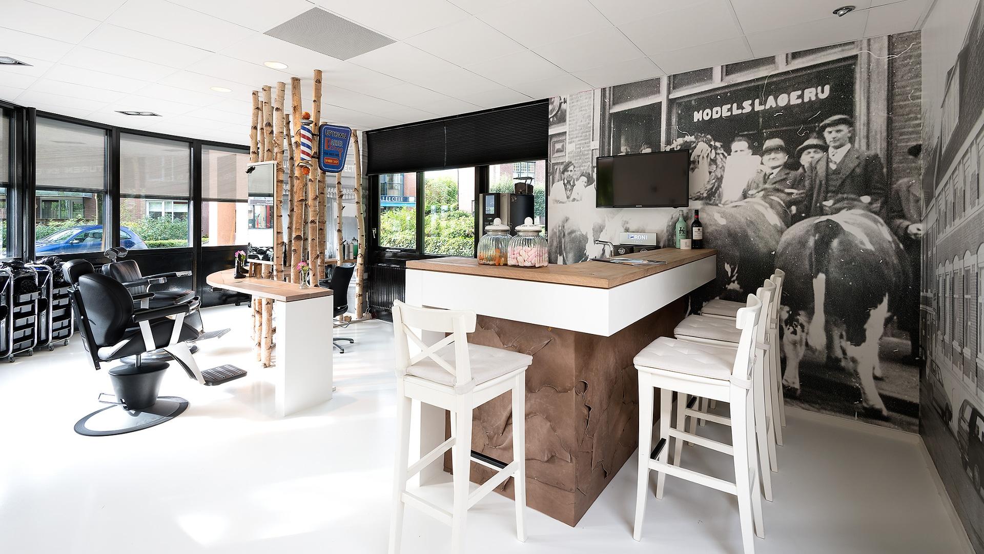 Bar op maat bekleed met leer puur en mooi for Kapsalon interieur